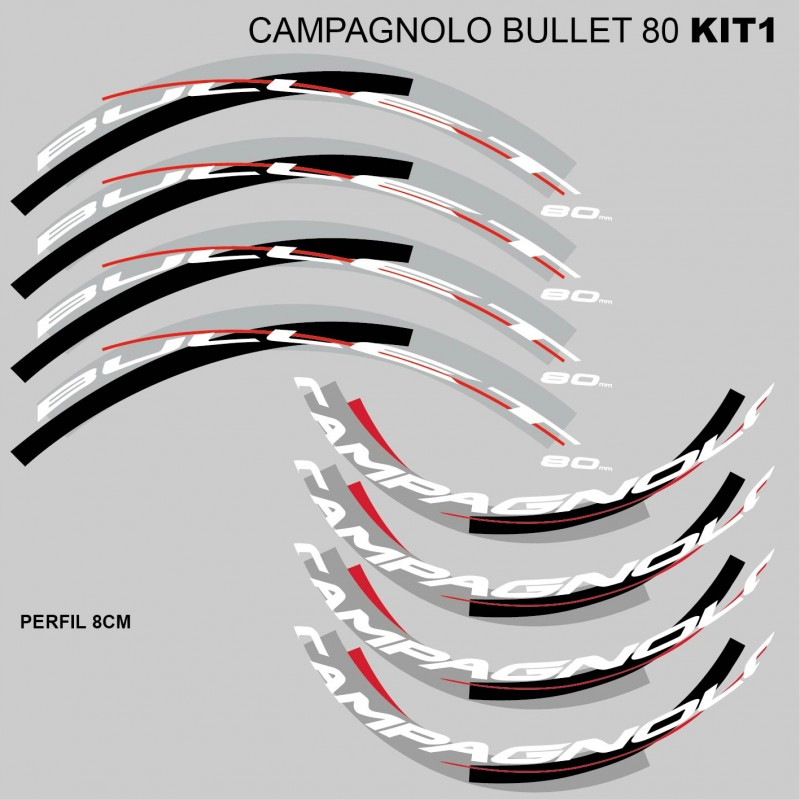 Campagnolo Bullet 80 stickers.