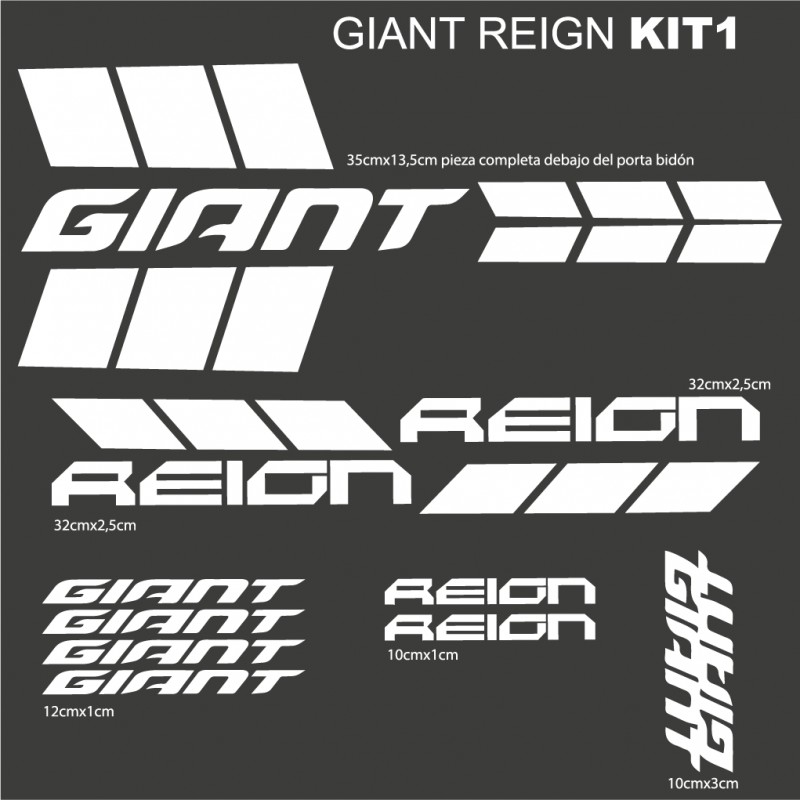 Giant Reign Kit1 Stickers For Bike Vinyls Decals
