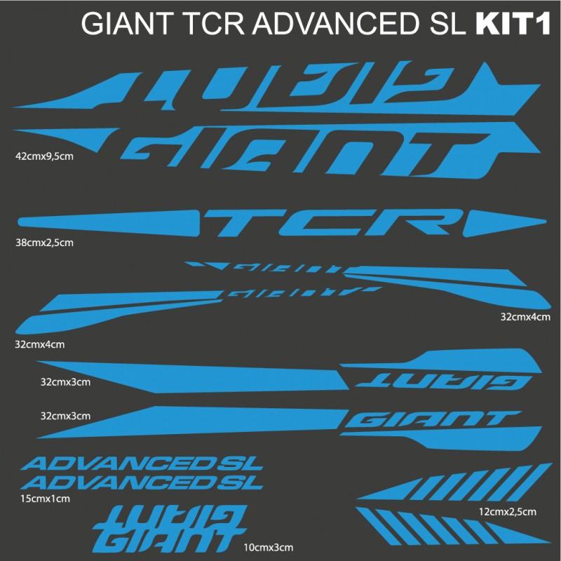 Giant Tcr Advanced Sl Kit1 Stickers For Bike Vinyls