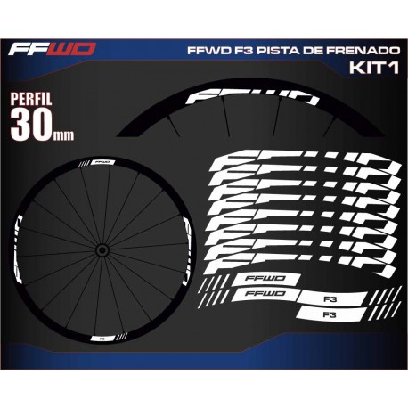 FAST FORWARD F3 PISTA DE FRENADO KIT1
