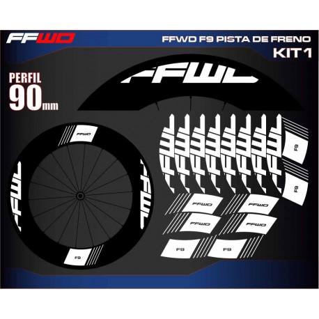 FAST FORWARD F9 PISTA DE FRENO KIT1