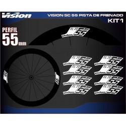 VISION SC 55 PISTA DE FRENADO KIT1