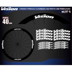 VISION TRIMAX CARBON 40 PISTA DE FRENADO KIT1