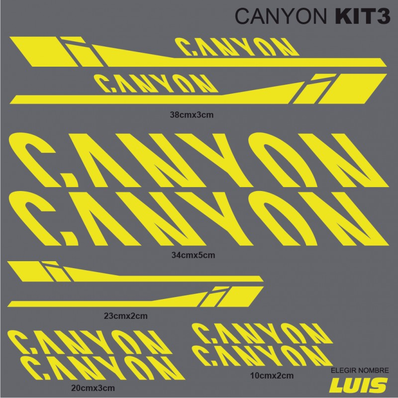 Canyon Kit3 Stickers For Bike Vinyls Decals Stickers