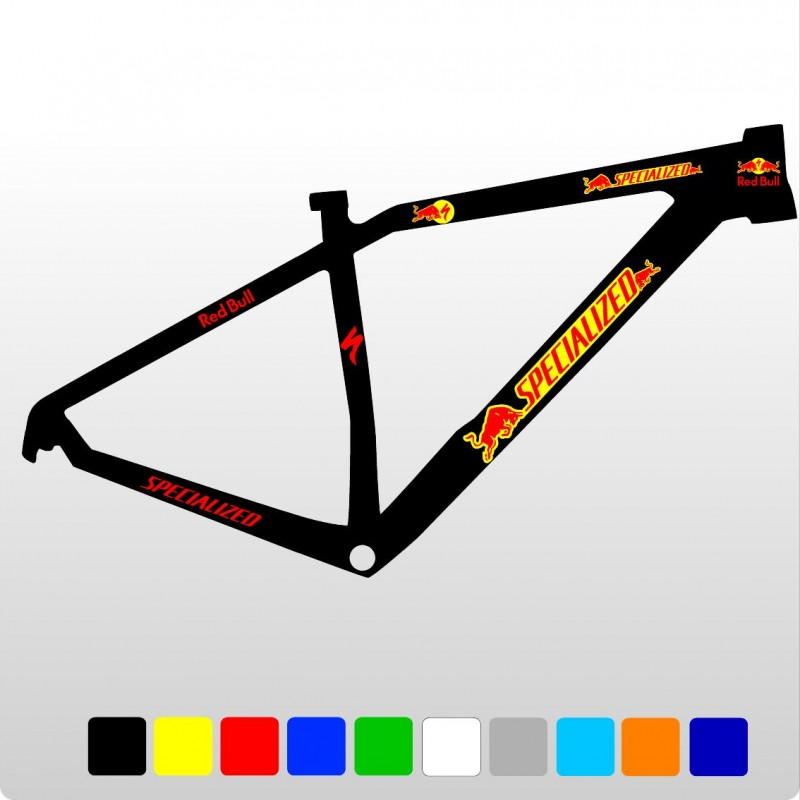 specialized red bull kit1 aufkleber f r fahrrad vinyls. Black Bedroom Furniture Sets. Home Design Ideas